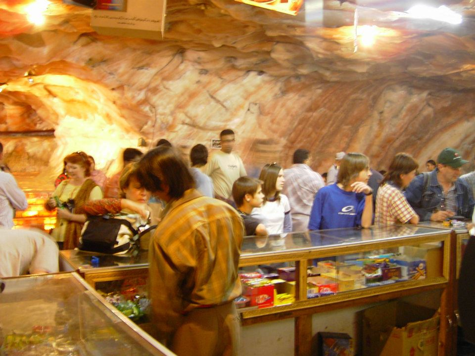 Shopping & food area inside Khewra Salt Mines, Pakistan