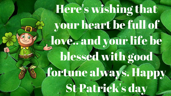 St Patrick wishes 2018