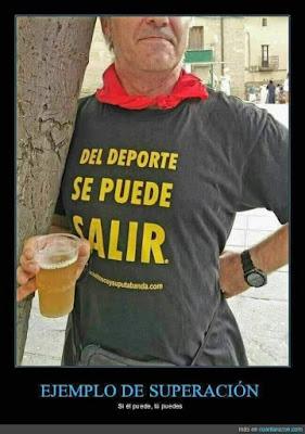 del deporte se puede salir, camiseta, cervezañ