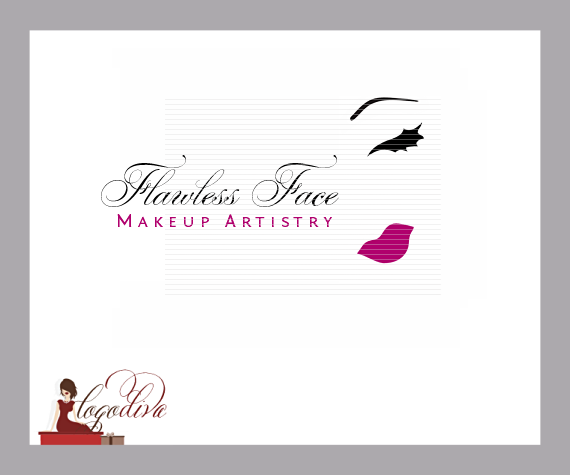 Exclusive Illustrated Makeup Artist Logos by Logo Diva www.logodiva.net