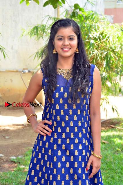Tamil Actress Amritha Pos in Blue Long Dress at Padaiveeran Tamil Movie Audio Launch  0005.jpg
