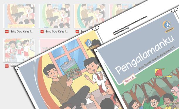 Buku Guru dan Siswa Kurikulum 2013 Kelas 1 SD MI Semester 2 Edisi Revisi Tahun 2016