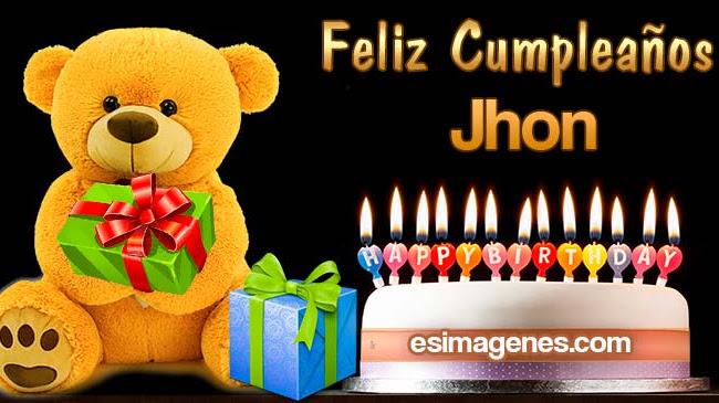 Feliz cumpleaños Jhon