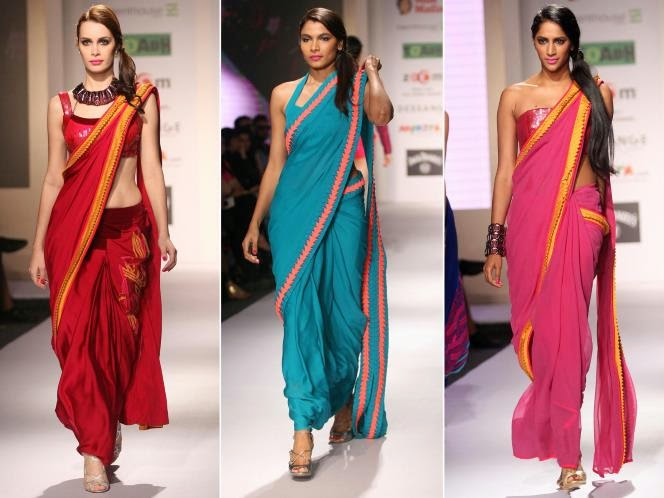 MODELS IN DESIGNER SAREE