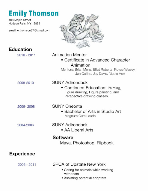 3d Character Animator Sample Resume Animator Resume Template 7 Free