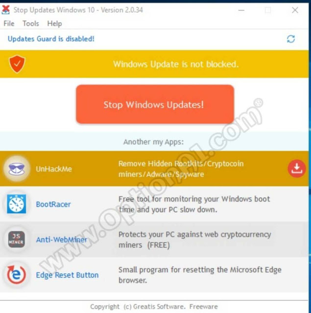 ايقاف تحديثات ويندوز 10 عن طريق برنامج StopUpdates10 اخر اصدار 2019