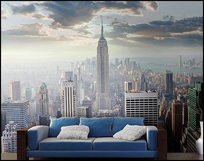 New York Style Loft Living   Modern Contemporary Decorating Ideas   Mod  Retro Style Furnishings · Sunrise In New York Wall Mural Part 85