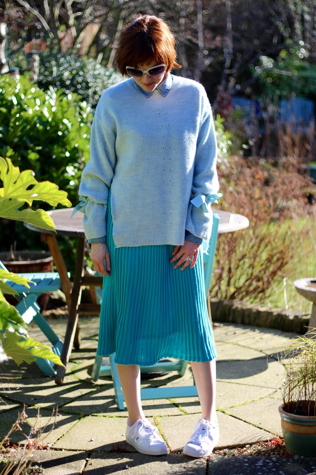 Vintage Pleated Midi Skirt, Superstars & Statement Sleeves, over 40!