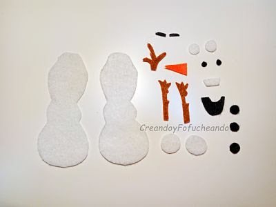 piezas-de-olaf-en-fieltro-creandoyfofucheando