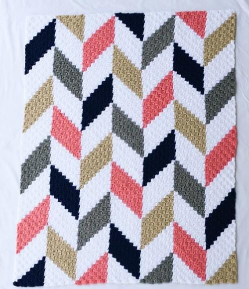 Herringbone Blanket C2C - Crochet Pattern