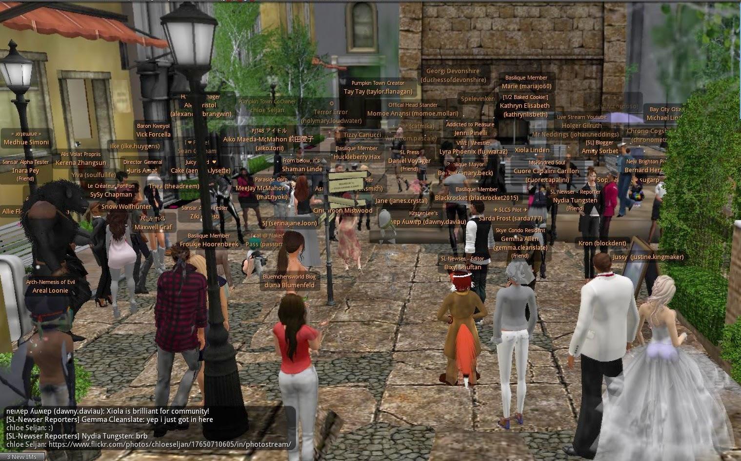 Second Life Newser: Linden Inworld Meetup in Basilique
