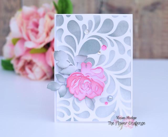 Flower Challenge, Pink & Grey