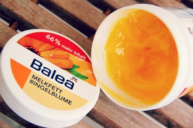 Balea cream with calendula marigold