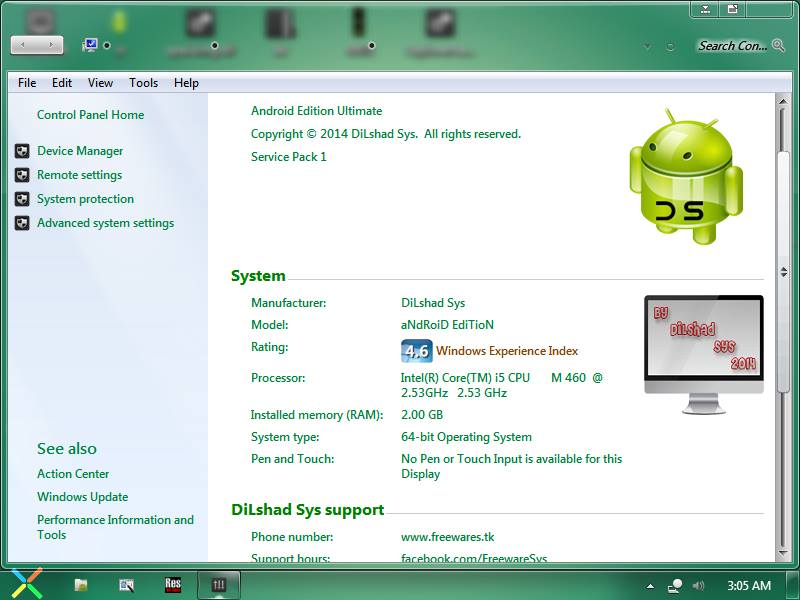 Windows 7 Android Edition 2014 (x86/x64) Full Version Download