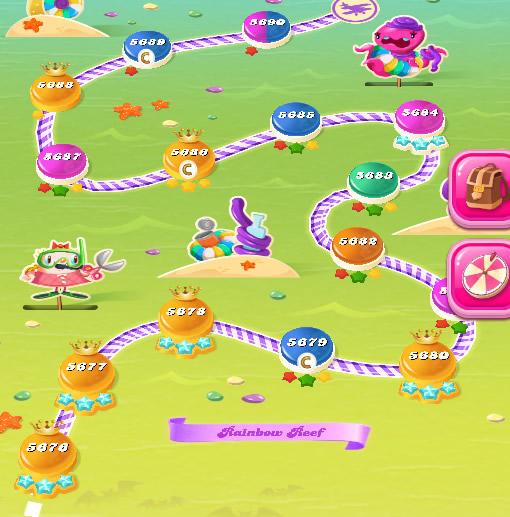 Candy Crush Saga level 5676-5690