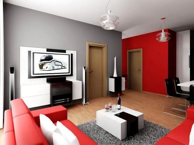 Contoh gambar 1 ruang tamu rumah minimalis modern dengan biaya murah