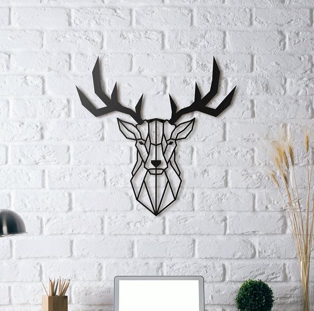 Amazing Deer Head Metal Wall Art