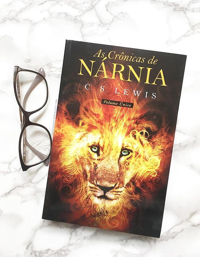 Versão física atual do livro As Crônicas de Nárnia, em volume único