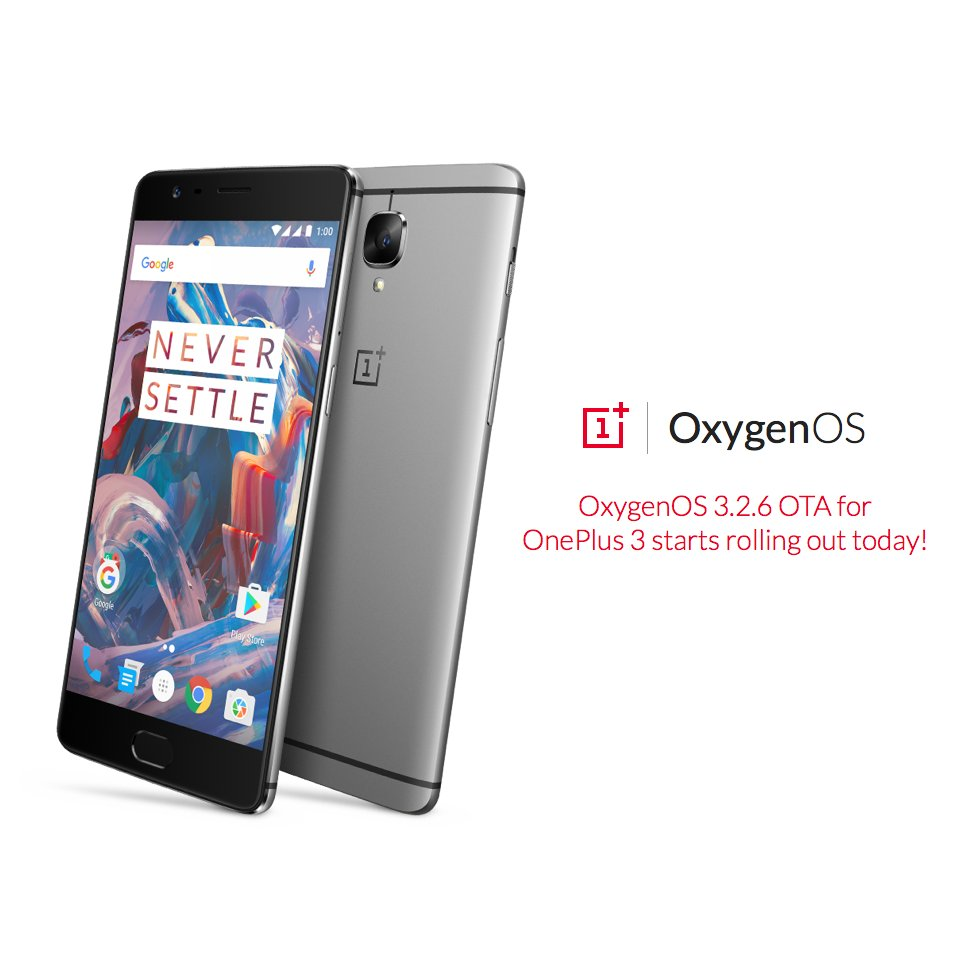 OnePlus 3 Receives OxygenOS 3.2.6 Update With optimizations And Improvements