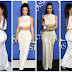 Kim Kardashian goes braless  abs-flashing cream crop high and skirts at CFDA Fashion Award (photos)