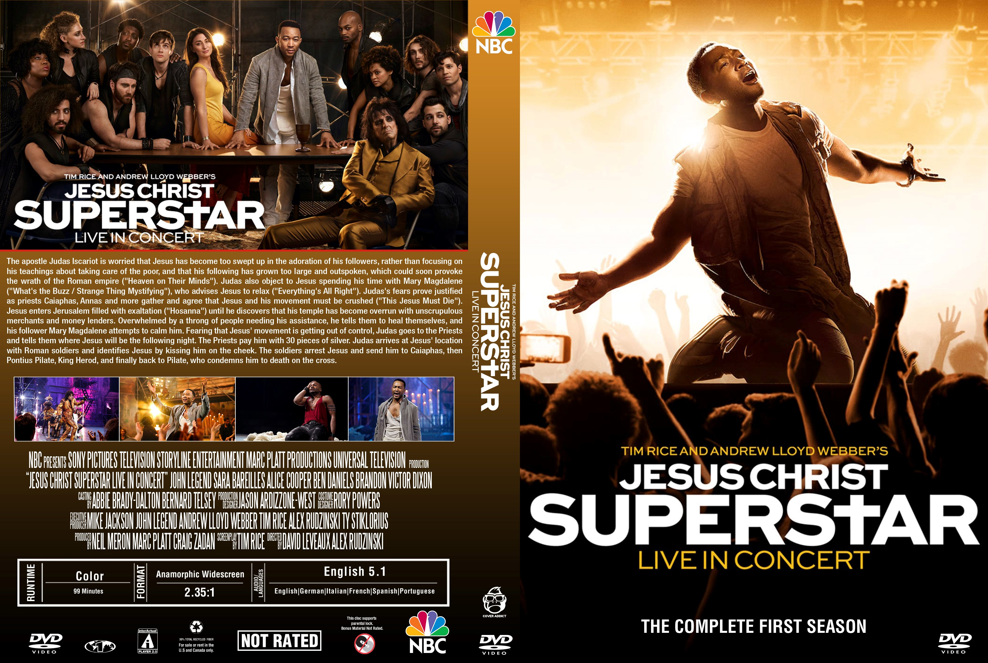 Jesus Christ Superstar Live in Concert DVD Cover ...