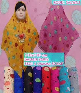 Grosir Jilbab segi empat umama scarf motif murah