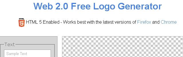 Web 2.0 Free Logo Generator - Solo Nuevas
