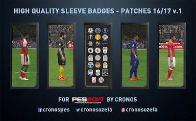 PES 2017 Best Sleeves Badges Pack Season 2017