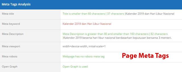 page meta tags