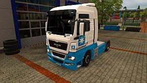 Maersk skin for MAN TGX (EviL)