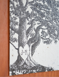 engraved oak tree