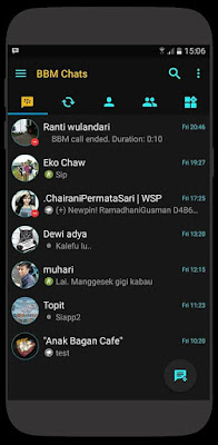 BBM Black Official v3.2.0.6 Avalaible Extra All Fitur New Style