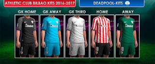 PES 2013 Athletic Bilbao Kits 2016-17 by DEADPOOL-Kits