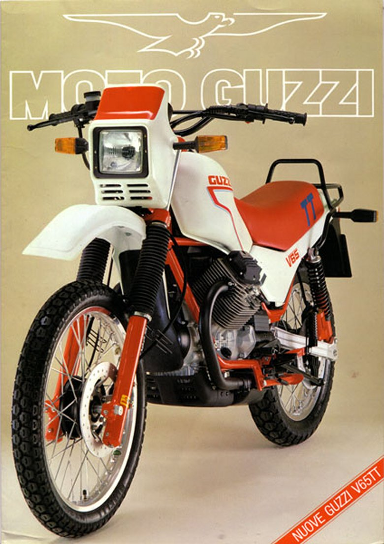 Oddbike Moto Guzzi V Twin Off Roaders Improbable Italian Enduros Engine Diagram V65 Tt