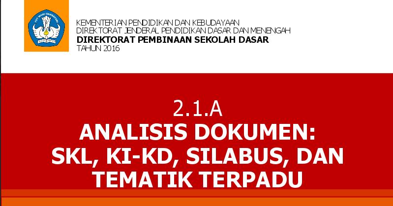 Materi Lengkap Pelatihan K13 Jenjang Sd Tahun 2016