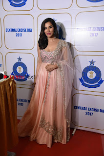Bollywood Actress Model Sophie Choudry Stills in a Beautiful Dress at The Annual Central Excise Day Celetion  0010.jpg
