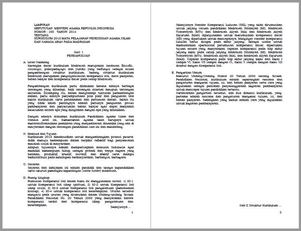 KMA Nomor 165 Tahun 2014 dan Lampiran