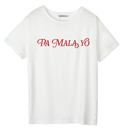 camiseta blanca Stradivarius Aitana War Pa mala yo