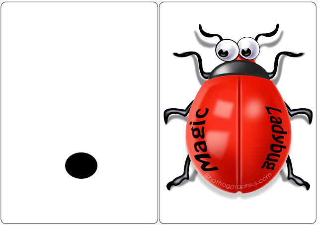 downloadable artwork for ladybug magic trick cards