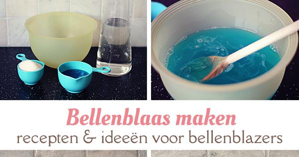 bellenblaas maken recepten bellenblazers
