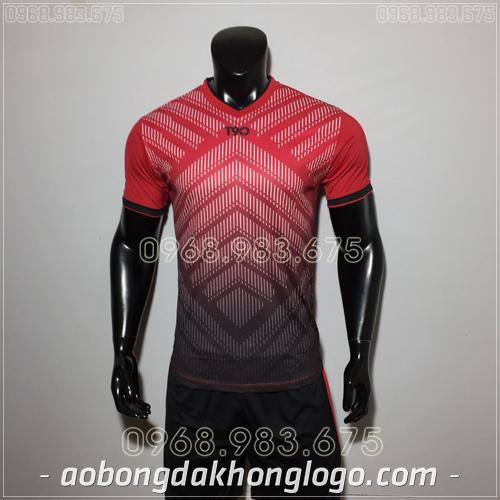 Áo Bóng Đá Ko Logo T90 HAT LiO Màu Đỏ 2019