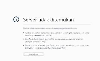 domain tidakditemukan akibat suspend