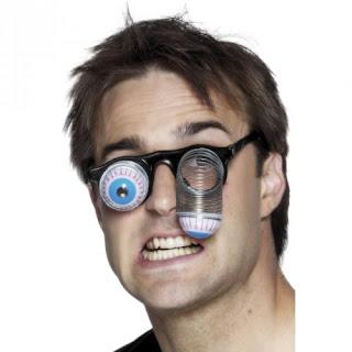 gafas , ojos saltones , muelle de metal, ojos salidos, broma
