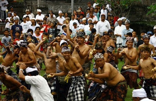 All about bali The Banana War Ceremony