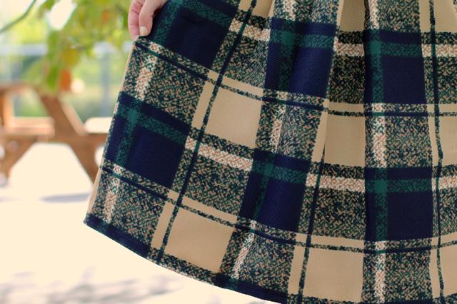 SheIn check skirt
