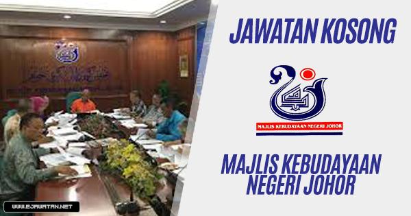 jawatan kosong Majlis Kebudayaan Negeri Johor 2019