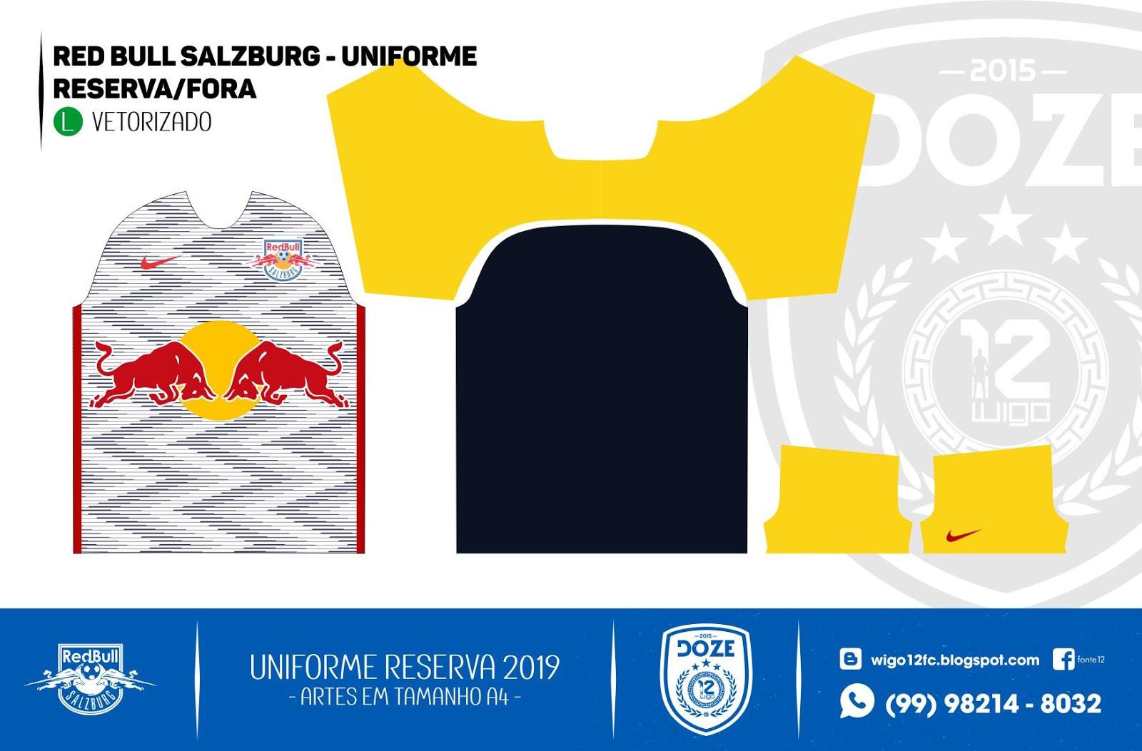 964bedd107815 Fontes Camisas de Futebol  Uniforme Red Bull Salzburg 2019