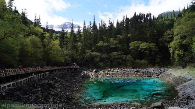 Jiuzhaigou, lago, colores