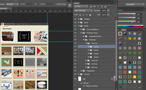 Using PSD Files and Generator to Create Adobe Muse Site