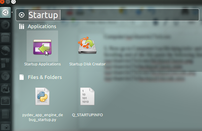 Startup Applications in Linux Ubuntu